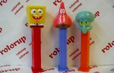 PEZ 2nd issue Spongebob Square Pants, Patrick and Squidward PEZ dispensers
