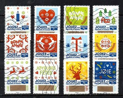 *New*  France - French - 2018 - Christmas Greetings - Fu - Full Set Of 12 Stamps