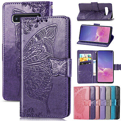 For Samsung Galaxy S10e S8 S9 Plus Emboss Magnet Leather Wallet Phone Case Cover