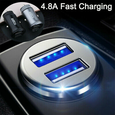 Car Charger Double USB 2 Port Dual Fast High Speed Phone Charging Double Socket