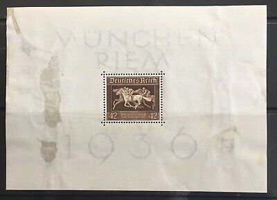 Germany Third Reich 1936 Block 4 MLH (stained)