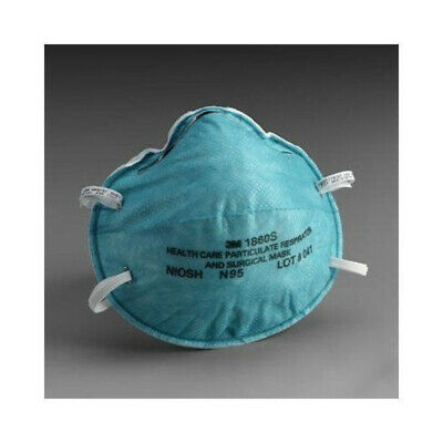 3M 1860S Particulate Respirator and Surgical Mask-Small-Blue - Pack of 5/10/20