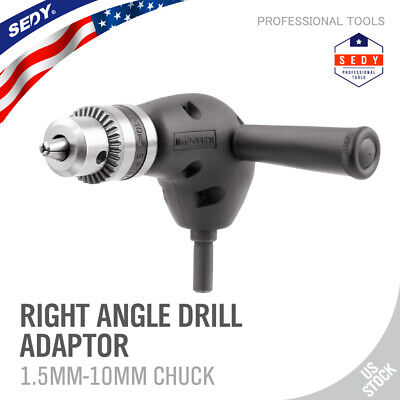 "Angle Adaptor Metal Gear 90 DEGREE Right Angle Drill Attachment 3/8"" Chuck NEW"