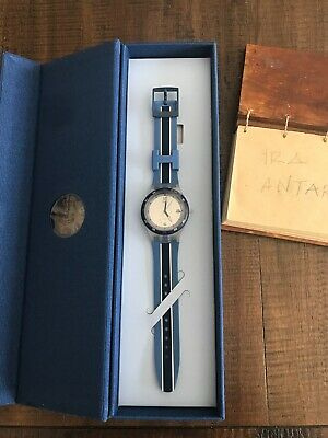 New Authentic Swatch Hackett Thames Summer Blue Limited Edition 1983 SUTZ405S