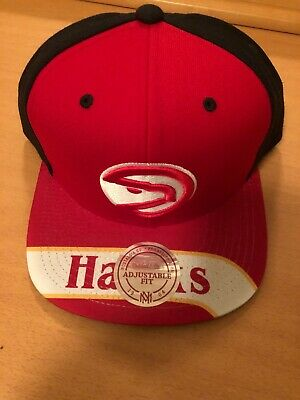 7d6c4400bb81e Mitchell & Ness Atlanta Hawks Color Blocked Sublimated Snapback Red/Black