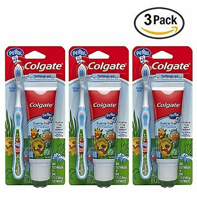 Colgate My First Baby and Toddler Fluoride Free Toothpaste and Toothbrush (3 Pk)
