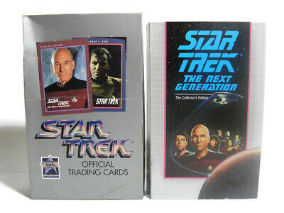Star Trek Official Trading Cards Retail Box 1991 plus Encounter at Farpoint VHS