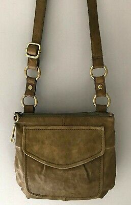 c3c62583b SIMPLY NOELLE LEATHER Crossbody Purse Olive Green MINT - $34.99 ...