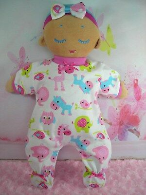 Dolls Clothes Made For LULLA DOLL~CUTE ANIMALS JUMPSUIT & HAIR BOW
