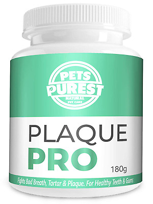 Pets Purest 100% Natural Plaque Off & Tartar Remover For Dogs & Cats | 180g | |