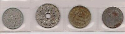 (H100-21) mix of 4 World coins (U)