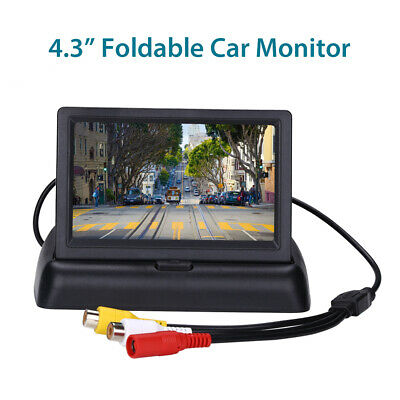 """4.3"""" Inch Foldable Color TFT-LCD Car Monitor 2 Way Video Input for Truck Car DVD"""