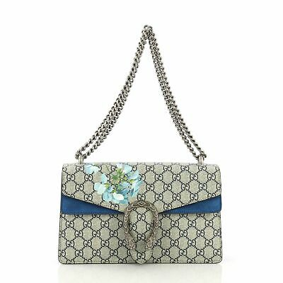 664e0fbfaba1 GUCCI DIONYSUS HANDBAG Blooms Print GG Coated Canvas Small ...