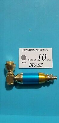 """Collectible 3.5"""" Tobacco Smoking Pipe With Pack Of 10 Brass Screens"""