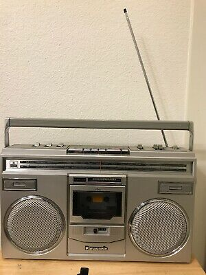 Vintage Panasonic RX5100 AM-FM Stereo Cassette Portable Boombox Tested