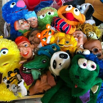 Vintage Hand Puppets  Sesame Street, German Rubber Head, Muppets, Peanuts CHOICE