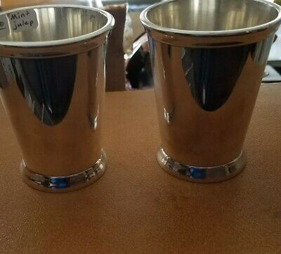 International Silver Julep Cup x Two Silver plated