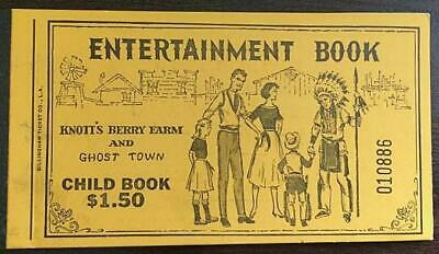 Rare 1960 Child's Entertainment Ticket Book Knotts Berry Farm Ghost Town Ca