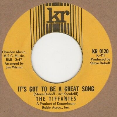 Tiffanies Its Got To Be A Great Song KR 2nd Soul Northern Reggae