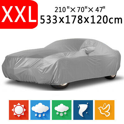 XXL - Foldable Waterproof Dust Rain Resistant Outdoor Full Auto Car Sedan Cover