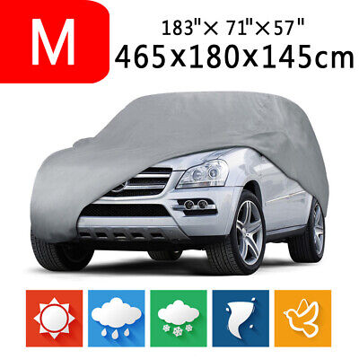 M - Foldable Waterproof Heat Dust Rain Resistant Outdoor Full Auto Car SUV Cover