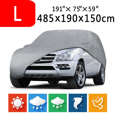 L - Foldable Waterproof Dust Rain Heat Resistant Outdoor Full Auto Car SUV Cover