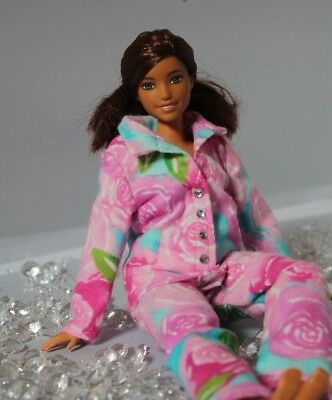 #005 Clothes for Barbie Doll Flannel Pajamas for Dolls