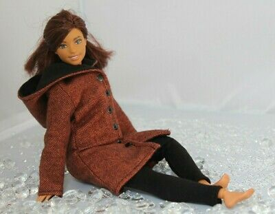 №005 Clothes for Barbie Doll Hooded Coat and Leggings for Dolls.