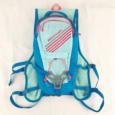 71752925f0 Nathan Moxy Race Vest 6L Womens Blue Hydration Running Camping Pack + 2L  Bladder