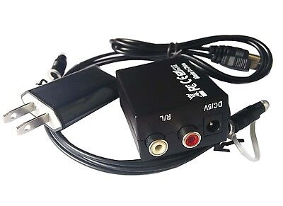 ADC R/L RCA Analog to Digital Audio Converter Adapter Optical Coaxial Toslink