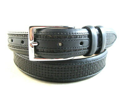 "Allen Edmonds ""WOVEN INLAY"" Dress Belt #28001   Size 36  Black (661)"
