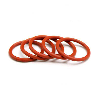 3.5mm Cross Section Food Grade Silicone Rubber O-Rings Seal Washer ID 5-39mm Red