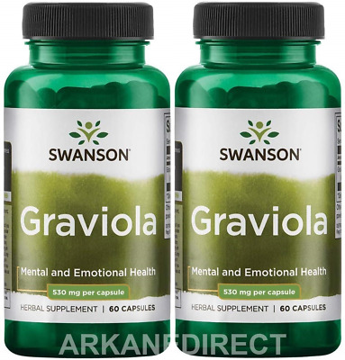 GRAVIOLA - 600mg, 120 capsules, Immune Boost - Soursop - 120 DAYS SUPPLY SWANSON