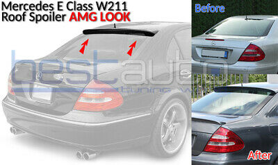 Mercedes W211 E-Class BOOT Spoiler ROOF Lip Trunk (2002-2006) AMG Design ABS