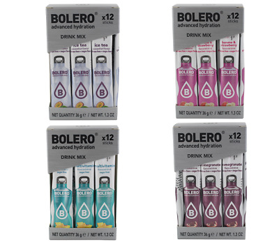 BOLERO DRINK Stick 3gr 4conf da 12 ice tea fruits-banana&frag-multivit-melograno