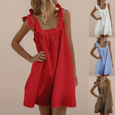 Sexy Backless Mini Skirt Square Neck BohoShort Sundress For Hoilday Beach Dress