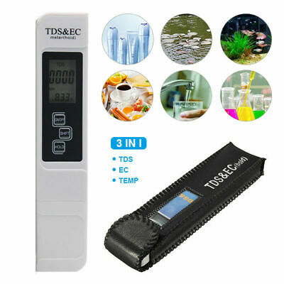 3 In 1 Multifunctional Water Quality Meter For TDS EC PPM Tester Pen LCD Display