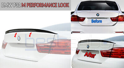 "BMW F32 4 Series Coupe BOOT Rear Boot Trunk Spoiler ""M Performance"" Design ABS"