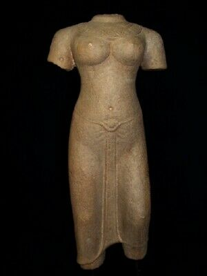 Beautiful Khmer Female Sandstone Torso