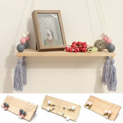 Wooden Swing Tassel Wall Hanging Pendant Ornament Baby Nursery Room XMAS Gifts