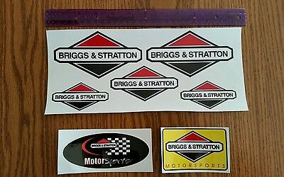 Reproduction 9piece briggs & stratton motorsports racing kart in bike decal set.