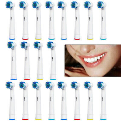 20pcs Electric Toothbrush Replacement Heads Compatible With Oral B Braun Models