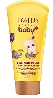 Lotus Herbals Baby+ Feathery Pecks Soft Baby Creme, 50gm + Free Shipping