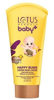 Lotus Herbals Baby+ Happy Bums Diaper Rash Crème, 100gm + Free Shipping