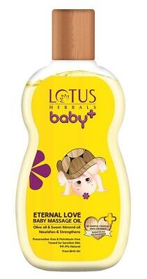 Lotus Herbals Baby+ Eternal Love Baby Massage Oil, 115ml + Free Shipping