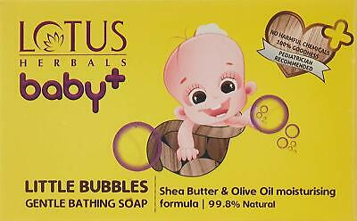 Lotus Herbals Baby + Little Bubbles Gentle Bathing Soap, White 75gm + FSW