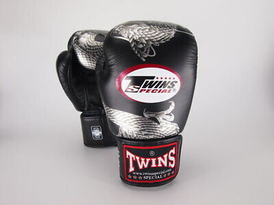 TWINS SPECIAL BLACK-SILVER Flying Dragon Muay Thai Boxing