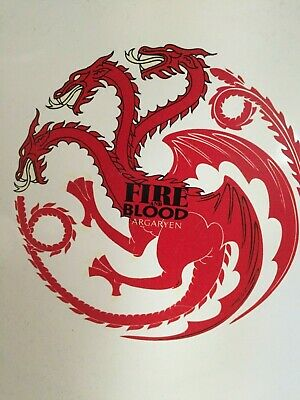 Game of Thrones Targaryen Fire & Blood Dragons Crest  3pc Place Setting