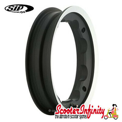 Wheel Rim Tubeless SIP Black Polished Edge (2.10x10) (Lambretta GP LI SX TV)