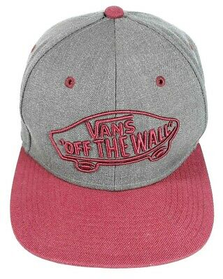 Vans Classic Patch -Off the Wall- Snapback Hat Burgundy/Gray